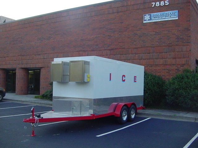 7x16 trailer parked at Polar Temp