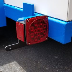 trailer tail lights and license plate mount